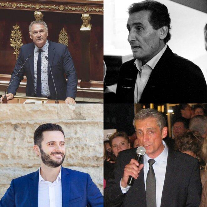 De la gauche vers la droite et de haut en bas : Patrick Vignal, Mohed Altrad, Romain Subirats et Philippe Saurel. © Le D'Oc