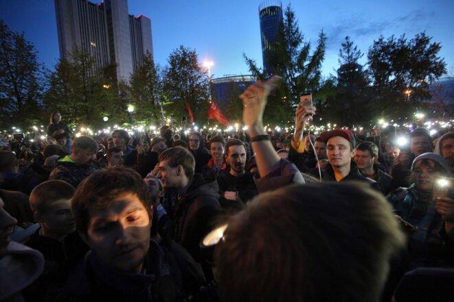 Mobilisés en nombre, les habitants d'Ekaterinbourg ont réussi à faire plier les dirigeants de la ville. © Kommersant/Vladislav Lonchakov