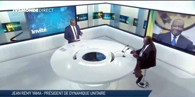 19 juillet 2019- Jean Remy YAMA sur le plateau de TV5MONDE