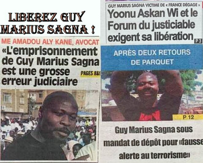Arrestation arbitraire de Guy Marius Sagna, militant du FRAPP