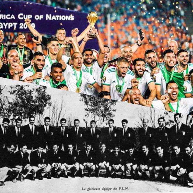 L'équipe d'Algérie championne d'Afrique et l'équipe du FLN, deux équipes victorieuses et deux contextes politiques exceptionnels