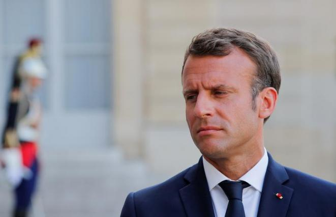 Emmanuel Macron le 22 juillet 2019. © Reuters
