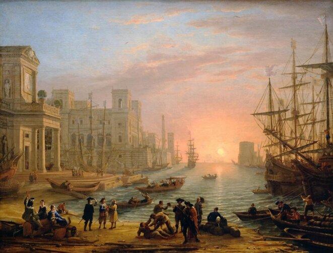 Le Lorrain, Port de mer au soleil couchant, 1639.