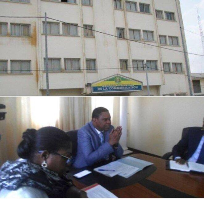La Haute autorité de la communication (HAC),Le Président, M. Raphael Ntoutoume Nkoghé et de ses collègues