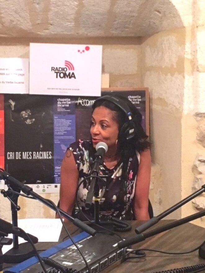 Véronique Polomat lors du débat Grand Large du samedi 20 juillet © Radio TOMA