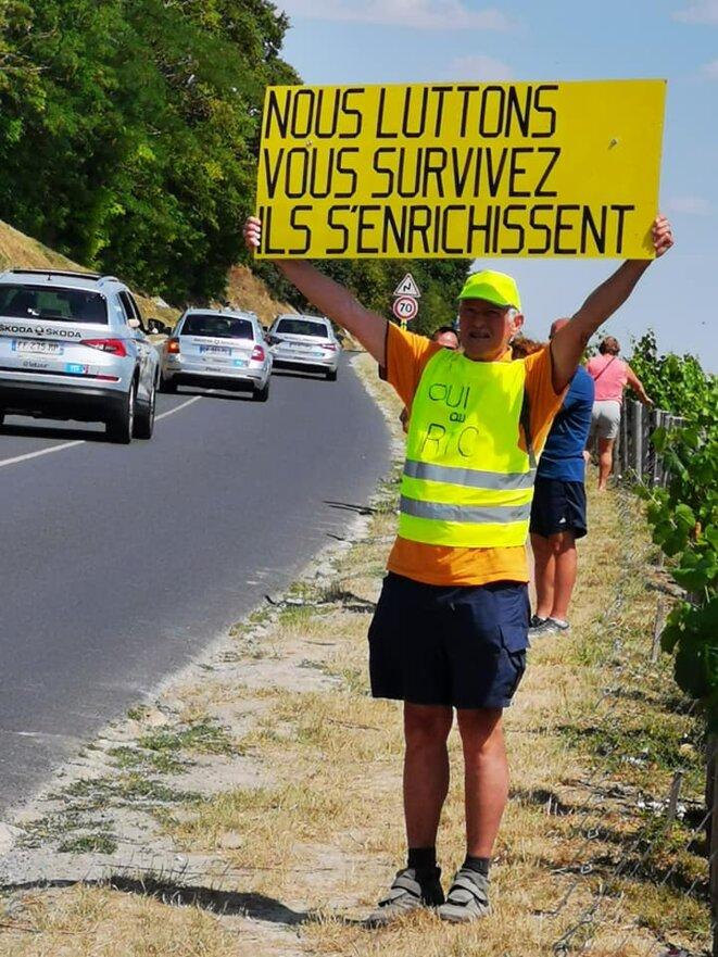 Sur la route de Binche à Epernay le 8 juillet © Dominique Garnier