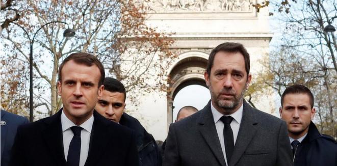 Emmanuel Macron et Christophe Castaner, le 2 décembre 2018. © Reuters
