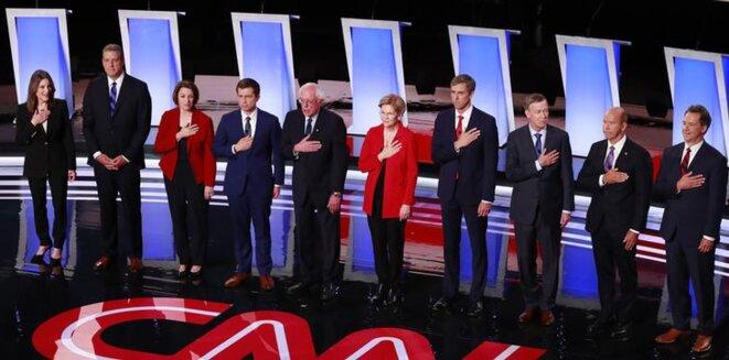 Le second débat entre les prétendants à l'investiture démocrate pour la présidentielle 2020, à Détroit, le 30 juillet. © Reuters