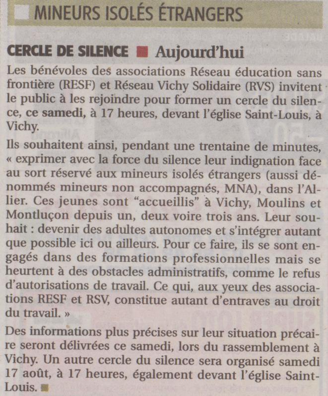 © La Montagne, édition de l'agence de Vichy, groupe Centre France