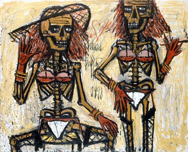 Squelettes travestis © Bernard Buffet; 1998