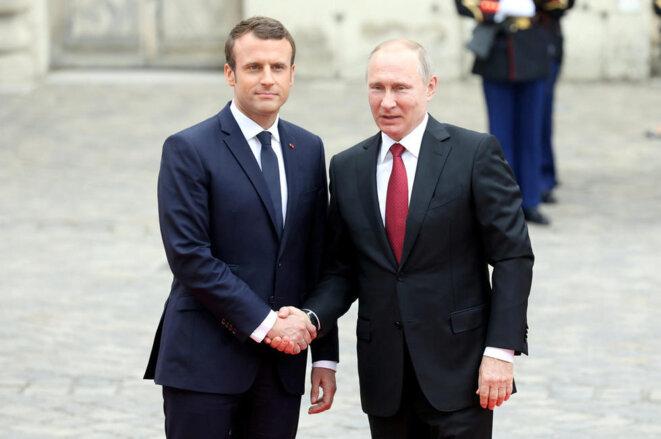 Macron et Poutine © lepoint.fr