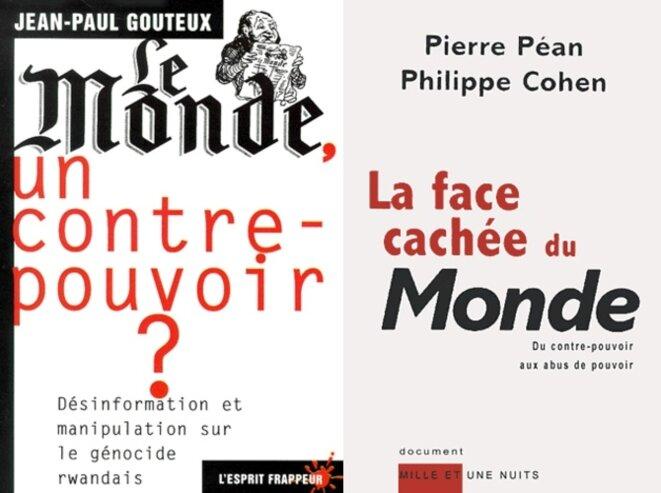 Couvertures des livres de Gouteux et Péan-Cohen sur le Monde © Assemblage Emmanuel cattier