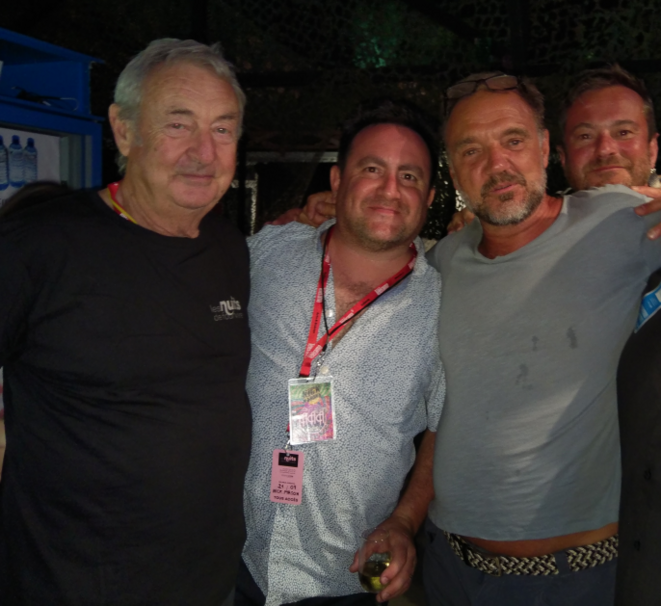 De gauche à droite, Nick Mason, Lee Harris, Guy Pratt, Dom Beken © Ariel Granado