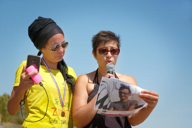 Kaina et Hamida pour l'hommage à Steve © C Bodin