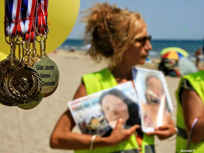 Pensée pour Zineb Redouane décédée après un tir de lacrymogène. © V Oulhen