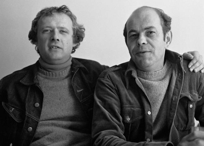 Adam Michnik et Jacek Kuroń, deux acteurs clés de la révolution polonaise. © Tomasz Michalak / PAP
