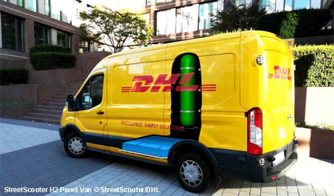 """""""100 fourgons électriques StreetScooter à pile hydrogène pour DHL"""" © avem.fr, 20190528"""