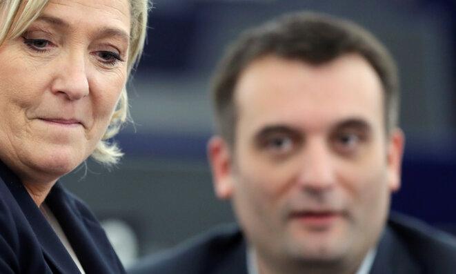 Marine Le Pen et Florian Philippot, le 17 janvier 2017 à Strasbourg. © Reuters/Christian Hartmann