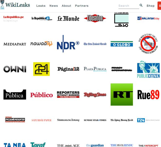 Partners Webpage of WikiLeaks