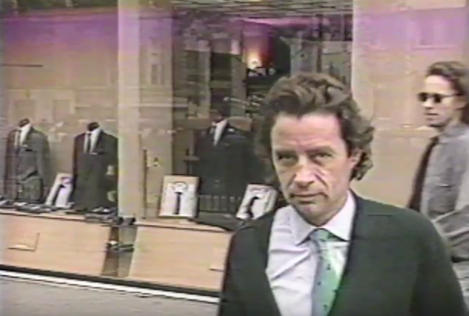 A rare image of Jean-Luc Brunel, filmed by CBS in 1988.