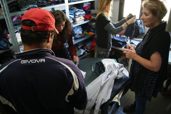 Banque alimentaire et de vêtements à Raguse. © CD
