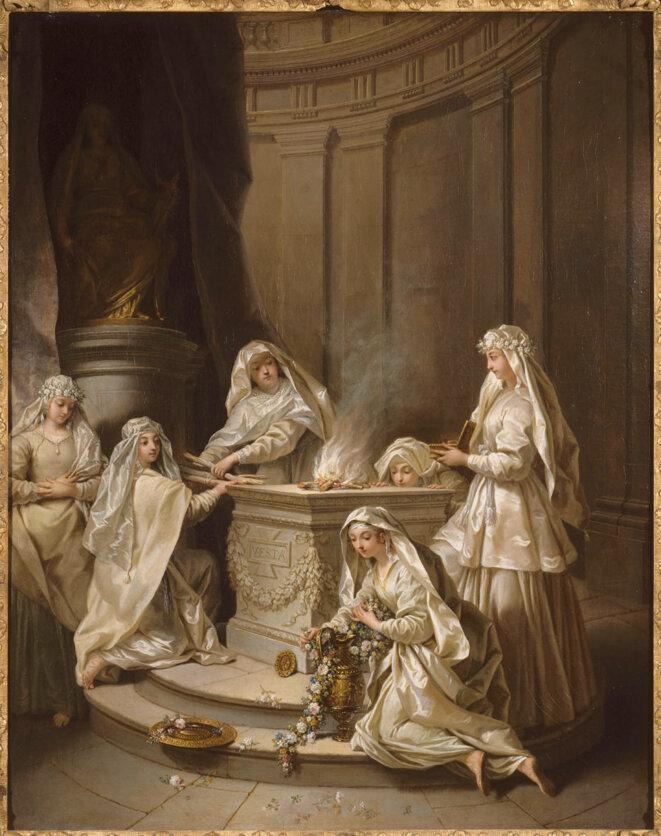 Jean Raoux, Vierges antiques, 1727, peinture à l'huile sur toile, 92 x 72, 5, Lille, Palais des Beaux-Arts © RMN Grand Palais - Philippe Bernard