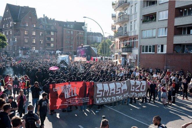 Le G20, à Hambourg, en juillet 2017. © Yann Lévy / Hans Lucas