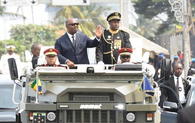 Ali BONGO ONDIMBA, Président de la République, Chef suprême de l'Armée - Défilé en date 17 Août 2019