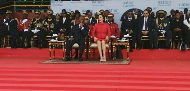 Tribune - Ali & Sylvia BONGO ONDIMBA - Gabon - Fête de l'indépendance 17 Août 2019
