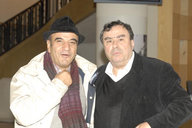 Avec Khaled Melhaa le 8 octobre 2012