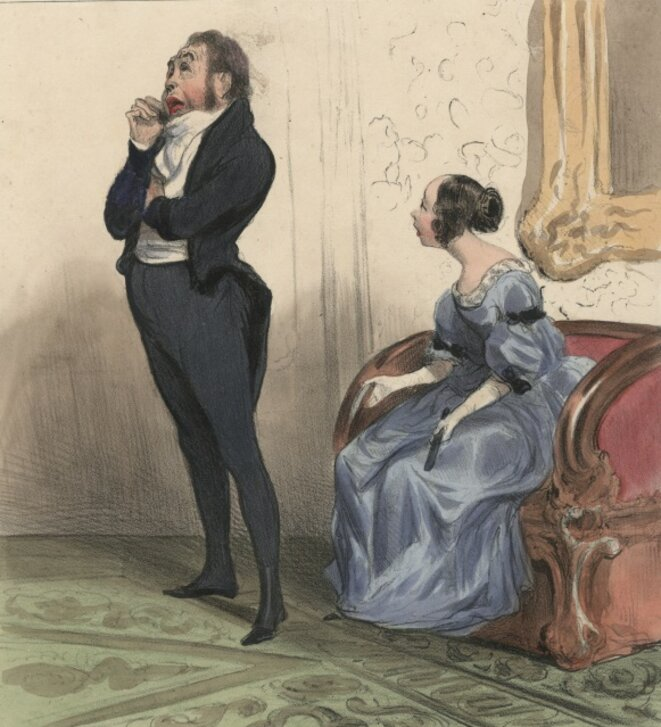 Daumier, Le Mariage d'argent © DR