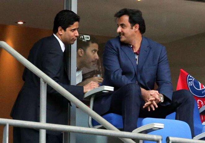 Le Président du PSG et l'Emir du Qatar