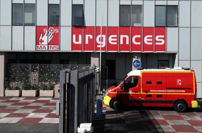 Aux urgences de Nice, actuellement en grève, le 26 mars 2019. © Reuters