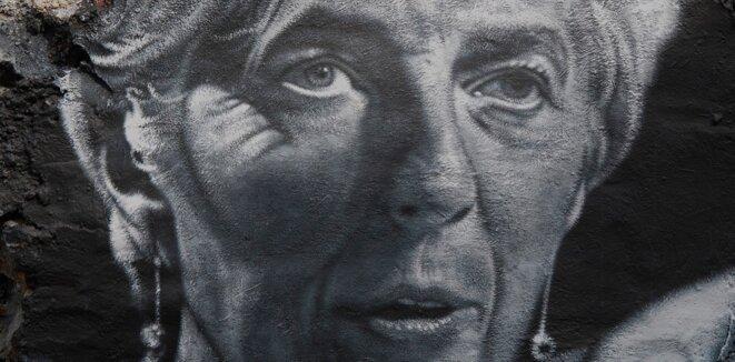 Christine Lagarde, painted portrait © thierry erhmann (cc)