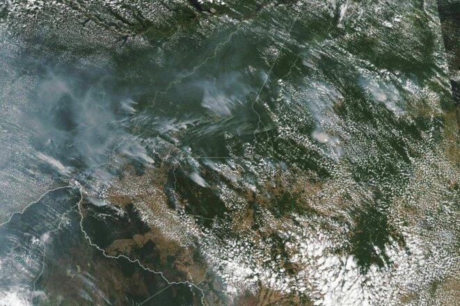Forêt Amazonienne image satellitaire prise par la NASA le 13 août 2019 © ap/sipa