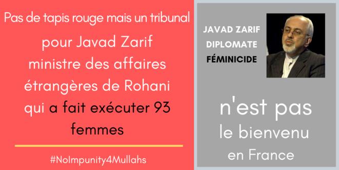Zarif n'est pas le bienvenue en France