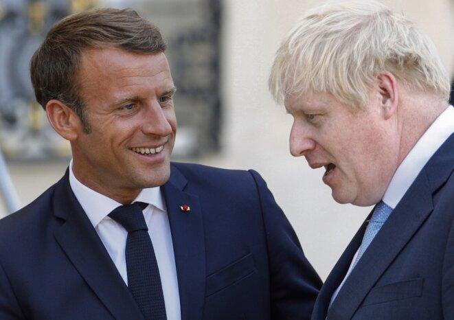 Emmanuel Macron a reçu Boris Johnson à l'Elysée à quelques jours du lancement du G7 © AFP