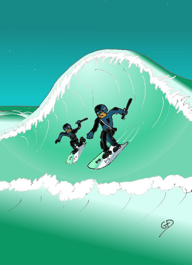 BIARRITZ : sa Compagnie Républicaine de Surf © Guy Delaunay