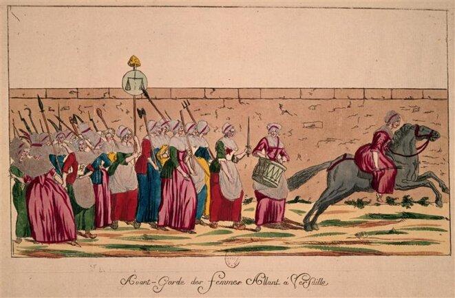 Marche des femmes sur Versailles le 5 octobre 1789 © BNF