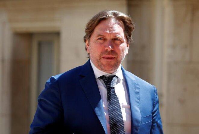 Éric Léandri, patron de Qwant, arrive au sommet Tech for Good, le 15 mai 2019, à Paris. © Reuters