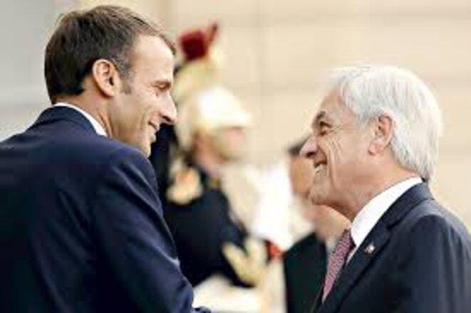 Macron et Piñera © Aton