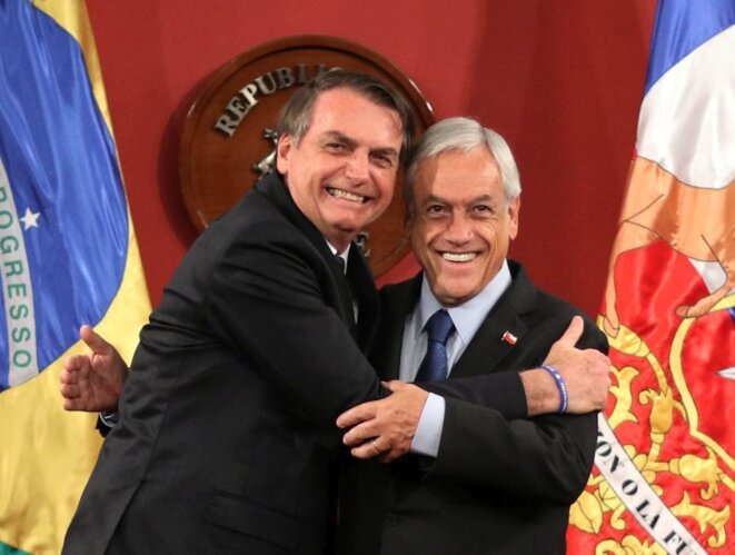Piñera et Bolsonaro © Agencia Uno
