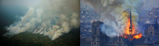 L'incendie des cathédrales. © Joédson Alves/EFE/SIPA et Flikr.fr