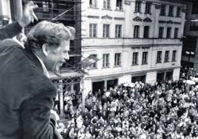 Vaclav Havel, alors candidat à la présidentielle en 1989. © REUTERS