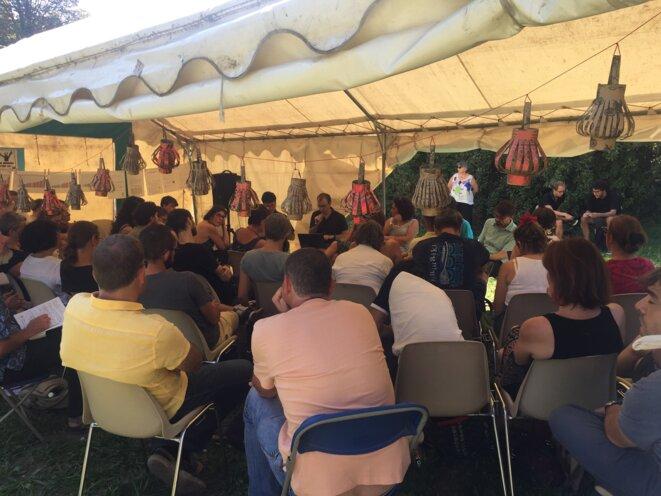 À l'université de l'éducation, lundi 26 août, à Vincennes. © Rouguyata Sall / MP