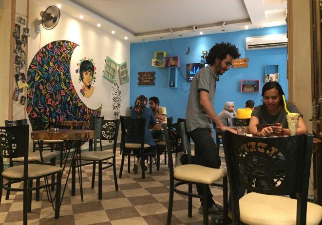 Galerie Haifa, un appartement loué transformé en café. © AL