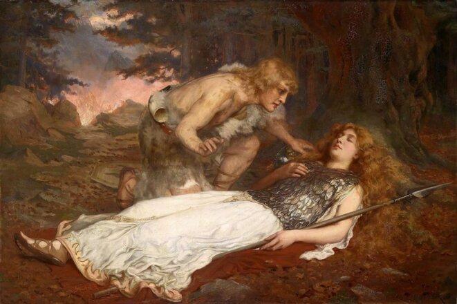 Siegfried et Brunnhilde par Charles Ernest BUTLER (1909)