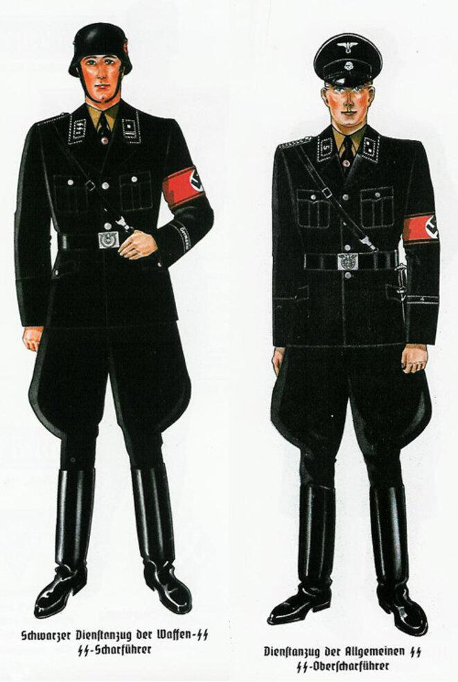 dessin d'Hugo Boss pour l'uniforme SS