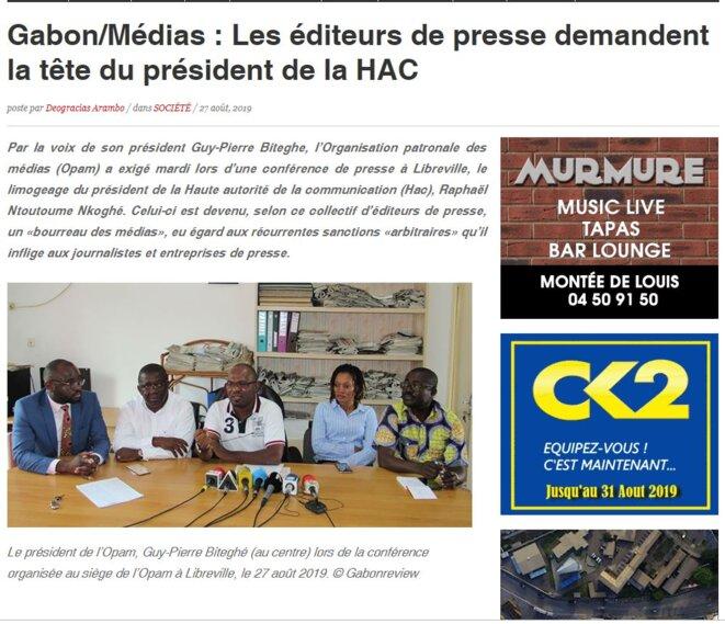 Gabon-Les éditeurs de presse en colère.