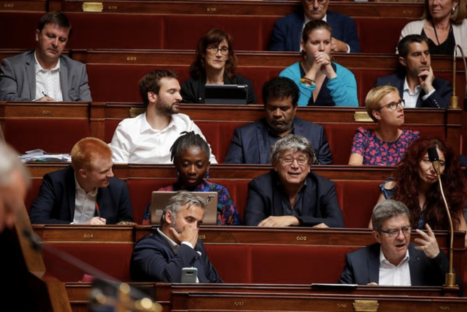 Le groupe LFI à l'Assemblée nationale. © Reuters